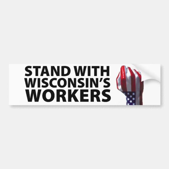 Wisconsin Protests Bumper Sticker