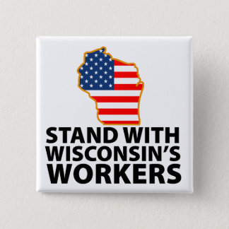 Wisconsin Protests Pinback Button