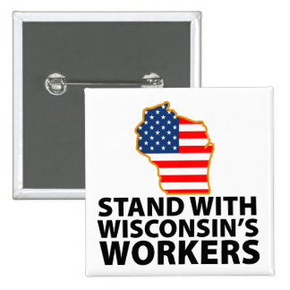 Wisconsin Protests Pinback Buttons