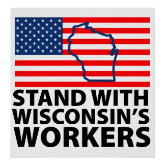 Wisconsin Protests Poster