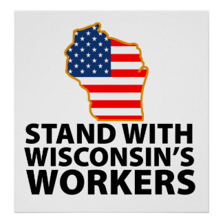 Wisconsin Protests Print