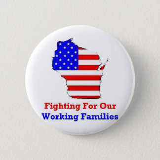 Wisconsin Protests Shirts Pinback Button