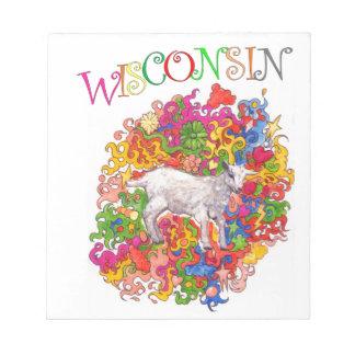 Wisconsin psicodélico Goatling Bloc De Notas