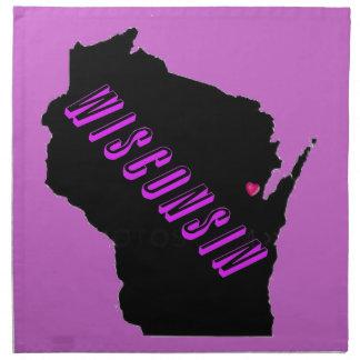 Wisconsin purple black American MoJo Napkin