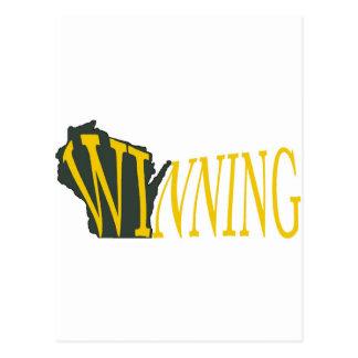 Wisconsin que gana postal