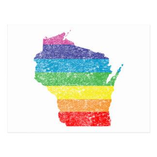 wisconsin rainbow postcard