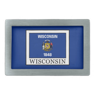 Wisconsin Rectangular Belt Buckle