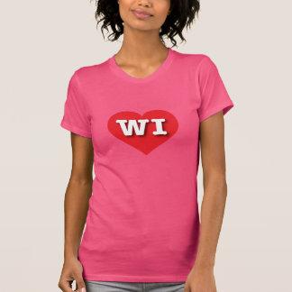 Wisconsin Red Heart - Big Love T-Shirt