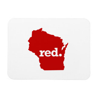 WISCONSIN RED STATE MAGNET