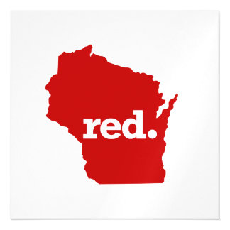 WISCONSIN RED STATE MAGNETIC CARD