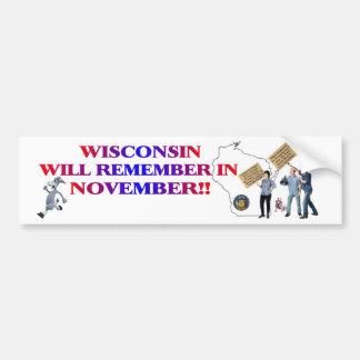 Wisconsin - Return Congress to the People! Bumper Sticker