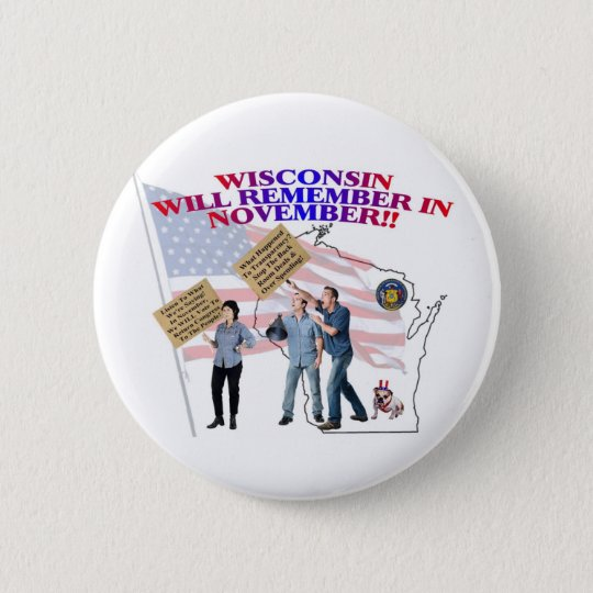 Wisconsin - Return Congress to the People! Pinback Button