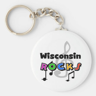 Wisconsin Rocks Keychain