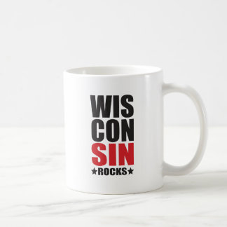 Wisconsin Rocks! State Spirit Gifts and Apparel Coffee Mug