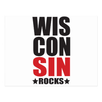 Wisconsin Rocks! State Spirit Gifts and Apparel Postcard