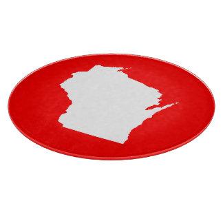 Wisconsin rojo y blanco tablas para cortar
