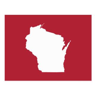 Wisconsin rojo y blanco tarjetas postales