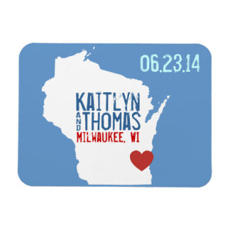 Wisconsin Save the Date - Customizable City Magnet