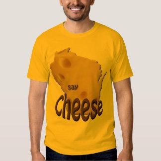 Wisconsin Say Cheese Mens Gold T-shirt