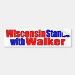 Wisconsin se coloca con el caminante etiqueta de parachoque