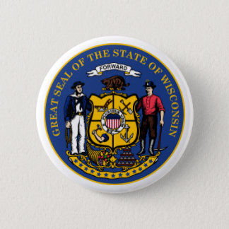 Wisconsin seal button
