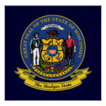Wisconsin Seal Poster