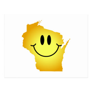 Wisconsin Smiley Face Post Card