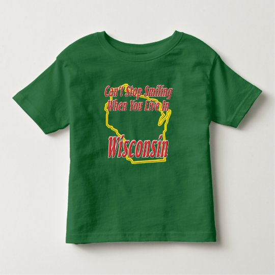 Wisconsin - Smiling Toddler T-shirt