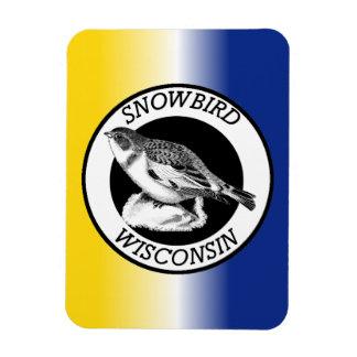 Wisconsin Snowbird Shield Magnet