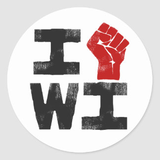 Wisconsin Solidarity Classic Round Sticker