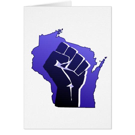 Wisconsin Solidarity Fist Card