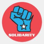 Wisconsin Solidarity Fist Classic Round Sticker