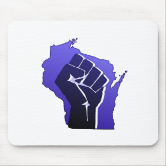 Wisconsin Solidarity Fist Mouse Pad