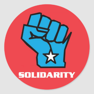Wisconsin Solidarity Fist Round Stickers