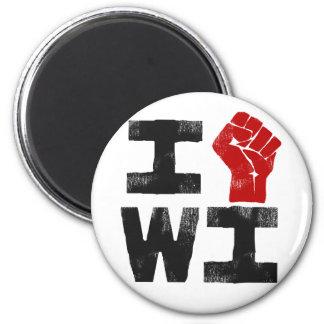 Wisconsin Solidarity Fridge Magnet