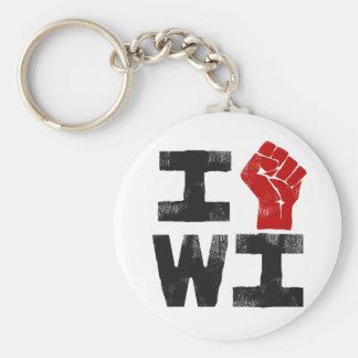 Wisconsin Solidarity Keychain