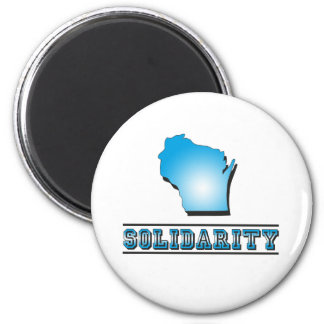 Wisconsin Solidarity 2 Inch Round Magnet