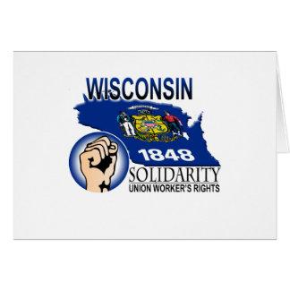 Wisconsin Solidarity Tee Greeting Card