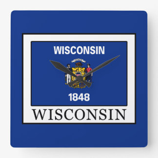 Wisconsin Square Wall Clock
