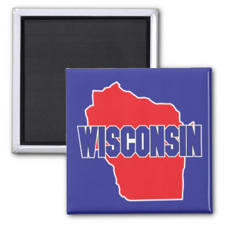 Wisconsin State 2 Inch Square Magnet
