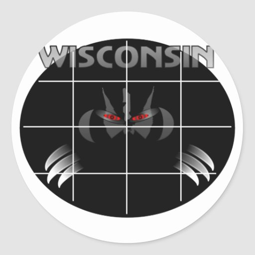 Wisconsin State Badger Design Classic Round Sticker