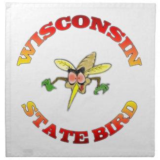 Wisconsin State Bird American MoJo Napkin