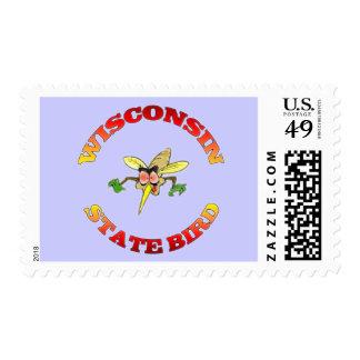 Wisconsin State Bird Postage