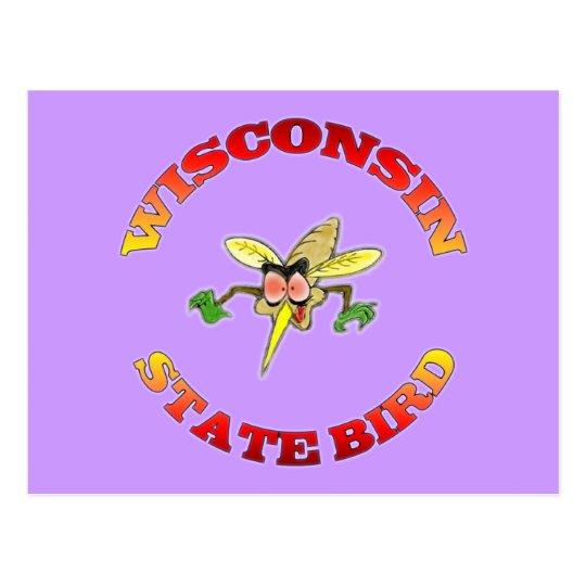 Wisconsin State Bird Postcard