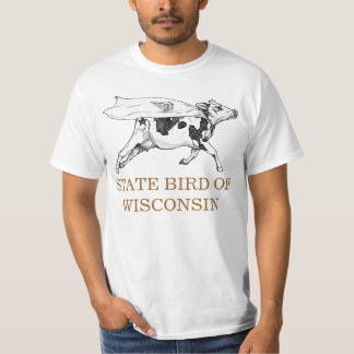 WISCONSIN STATE BIRD: THE COW T-Shirt