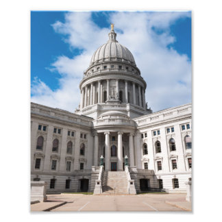 Wisconsin State Capitol Building and Entrance Photo Print