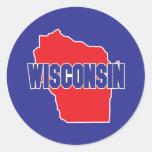 Wisconsin State Classic Round Sticker
