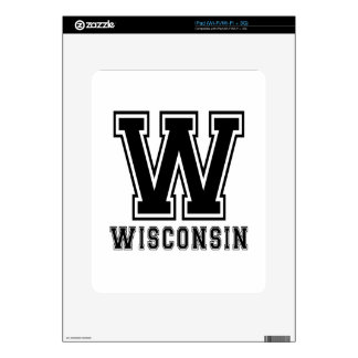 Wisconsin State Designs Decals For iPad