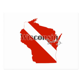 Wisconsin State Dive Flag Postcard