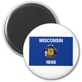 Wisconsin State Flag 2 Inch Round Magnet